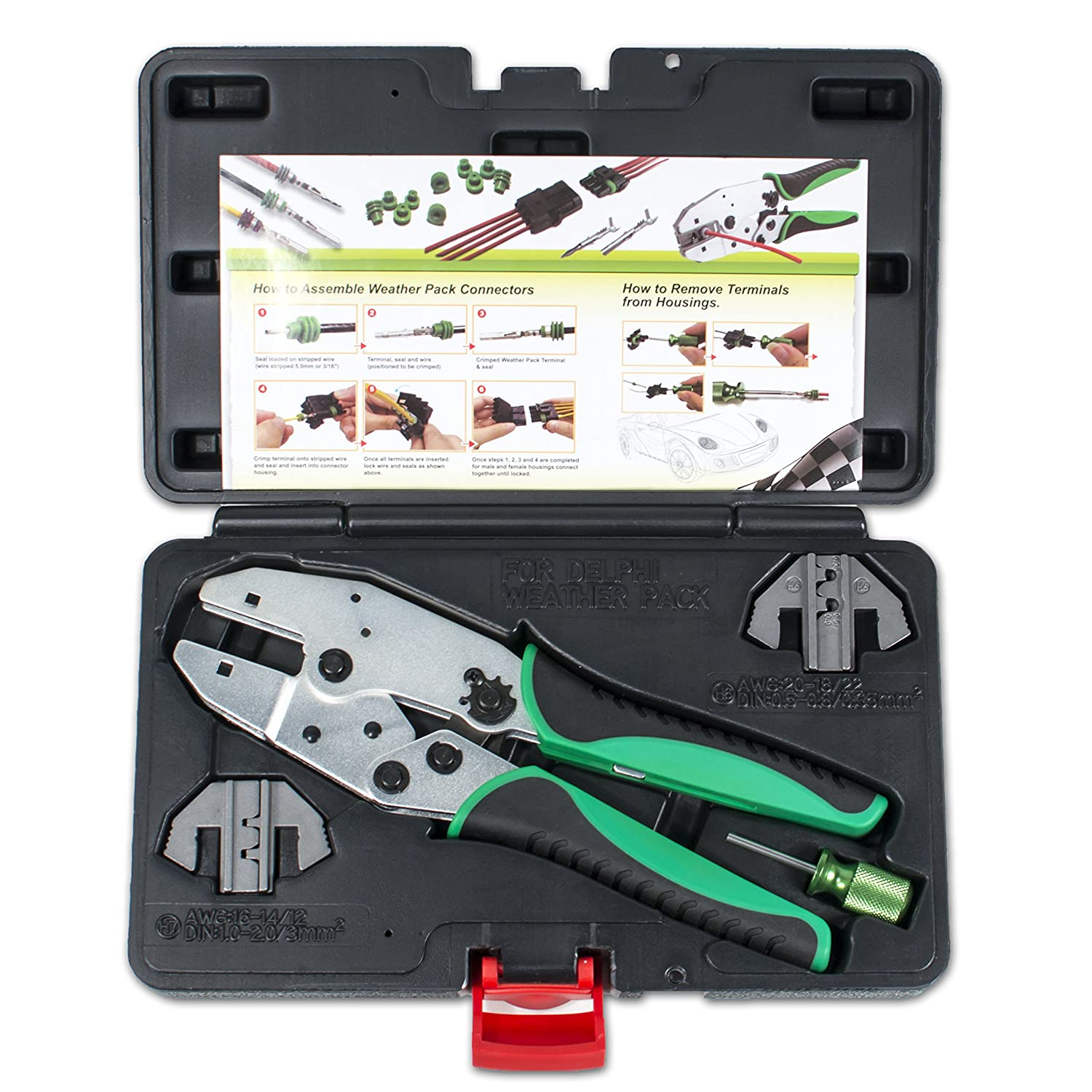 Delphi Weather Pack Connector Terminal Ratcheting Crimping Tool ...