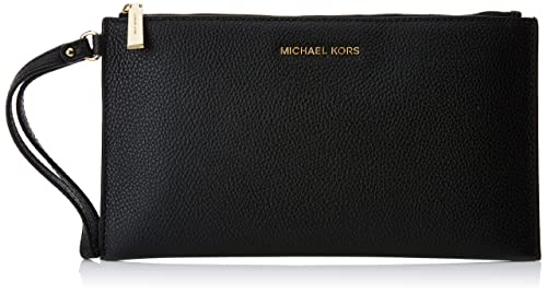 Michael Kors Mercer Large Zip Clutch, Cartera de Mano para Mujer, Negro (Black