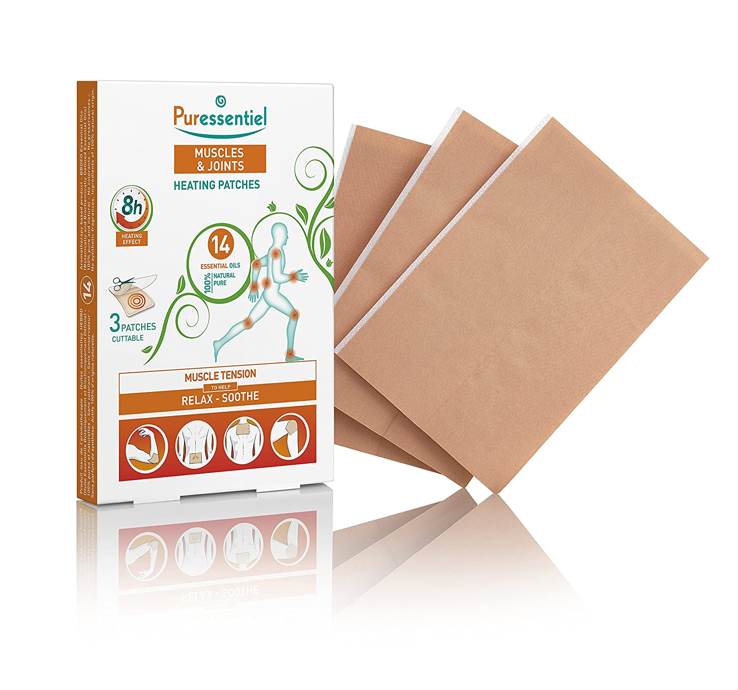 Puressentiel Joints 3 Heating Patches with 14 Essential Oils