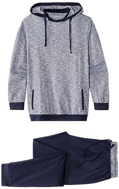 Celio Jipyhood, Conjuntos de Pijama para Hombre, Bleu (Navy), Small