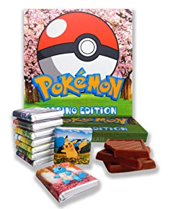 POKEMON BOX SPRING EDITION, Chocolate Gift Set, 5x5in, 1 box (Cherry)