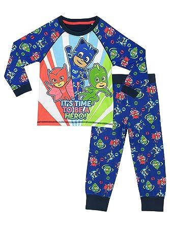 b9d2694157f4 PJ MASKS Boys Pyjamas Ages 2 to 8 Years  Amazon.co.uk  Clothing