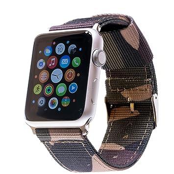 Pulsera para APPLE Watch, de nailon, lona, banda, para Relojes de pulsera