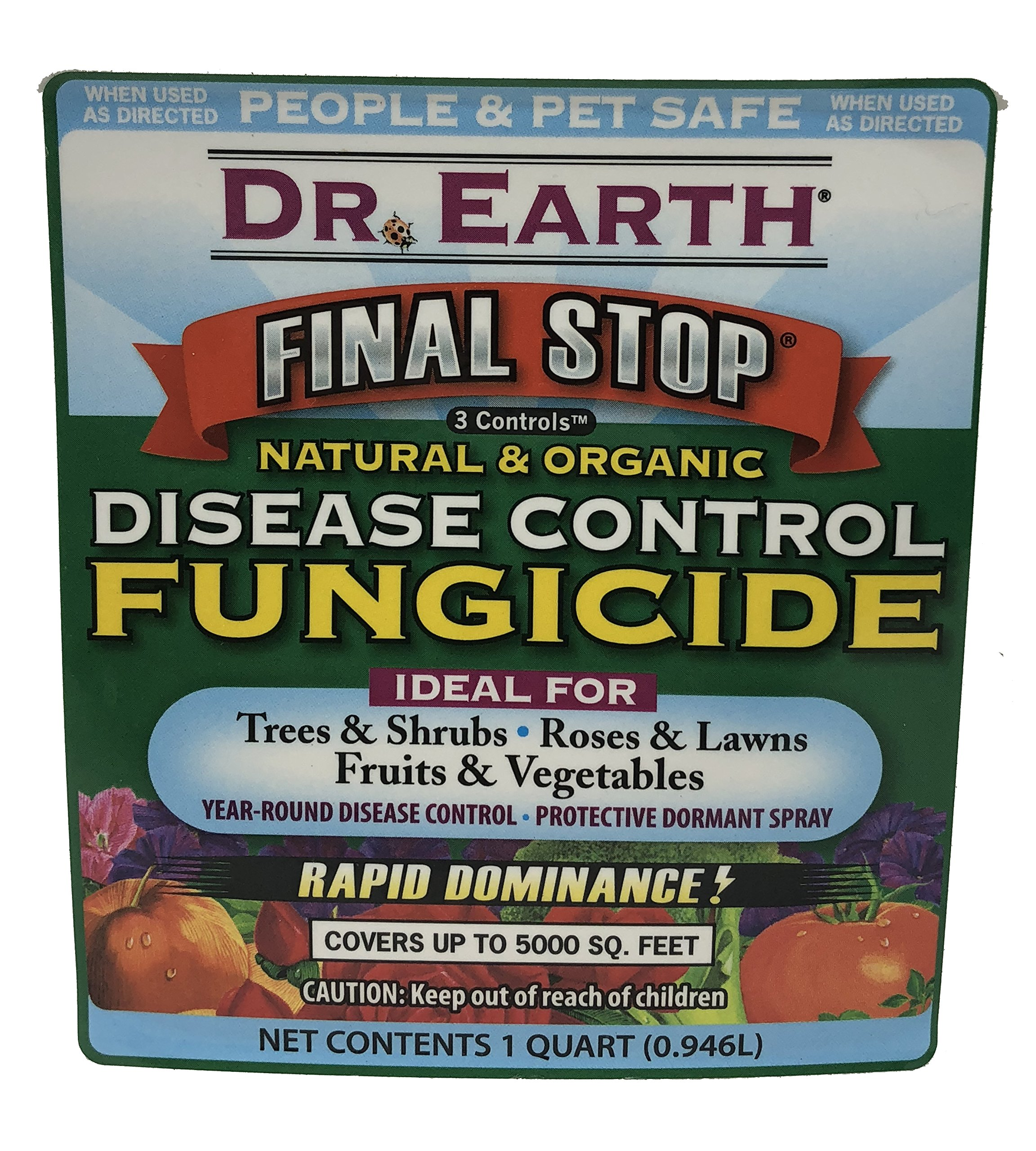 Natural and Organic Ready-to-Spray Disease Control Fungicide by Dr. Earth   32 Ounce   Ideal for Lawn Garden Tree Shrub Roses Fruit Vegetable by Organic Lawn Fertilizer By Dr Earth (Image #3)