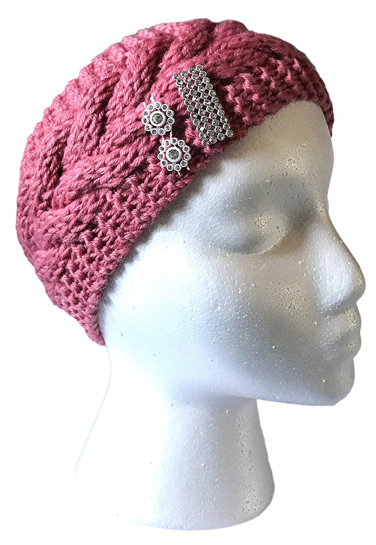 Womens Crochet Warm Hat Cap Knitted Empty Skull Beanie Headband (HB112-BD)  at Amazon Women s Clothing store  c620880eee4d