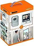 """Bticino 316913 Kit Videocitofono 2 Fili, 4.3"""" a colori, Mono/Bifamiliare, Bianco"""