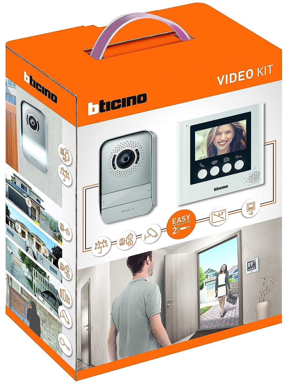 Bticino - Manos libres dú plex kit de videoportero 2 hilos con monitor de color de 4.3 316913