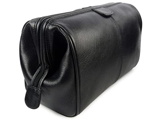 6fb137f03a Mala Leather Men s Top Leather Wash Bag Verve Collection By Mala Available  In Or Onesize Black