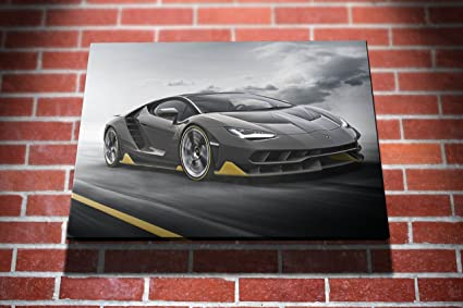 Lamborghini Centenario Lp770 Cars Gallery Framed Canvas Art Picture