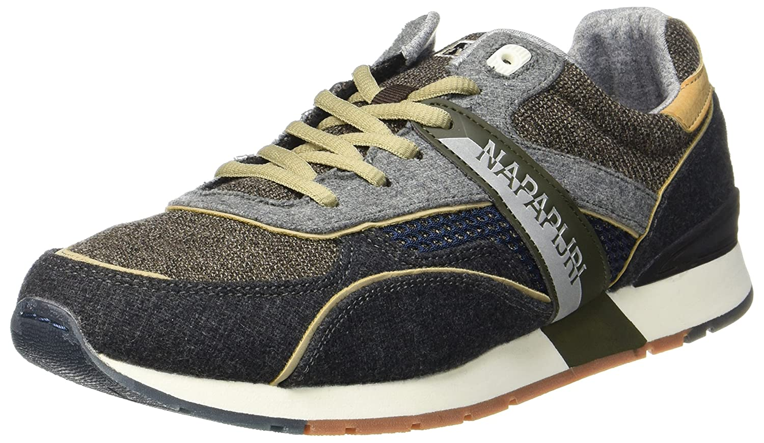Amazon.com | Napapijri Shoes Sneakers Men in Fabric and Green Gray Suede | Shoes