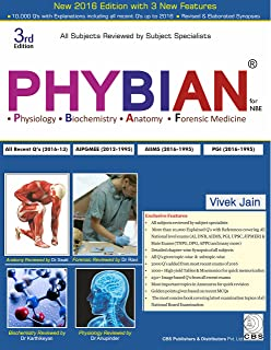 PhyBiAn : Physiology Biochemistry Anatomy and Forensic Medicine for NBE price comparison at Flipkart, Amazon, Crossword, Uread, Bookadda, Landmark, Homeshop18