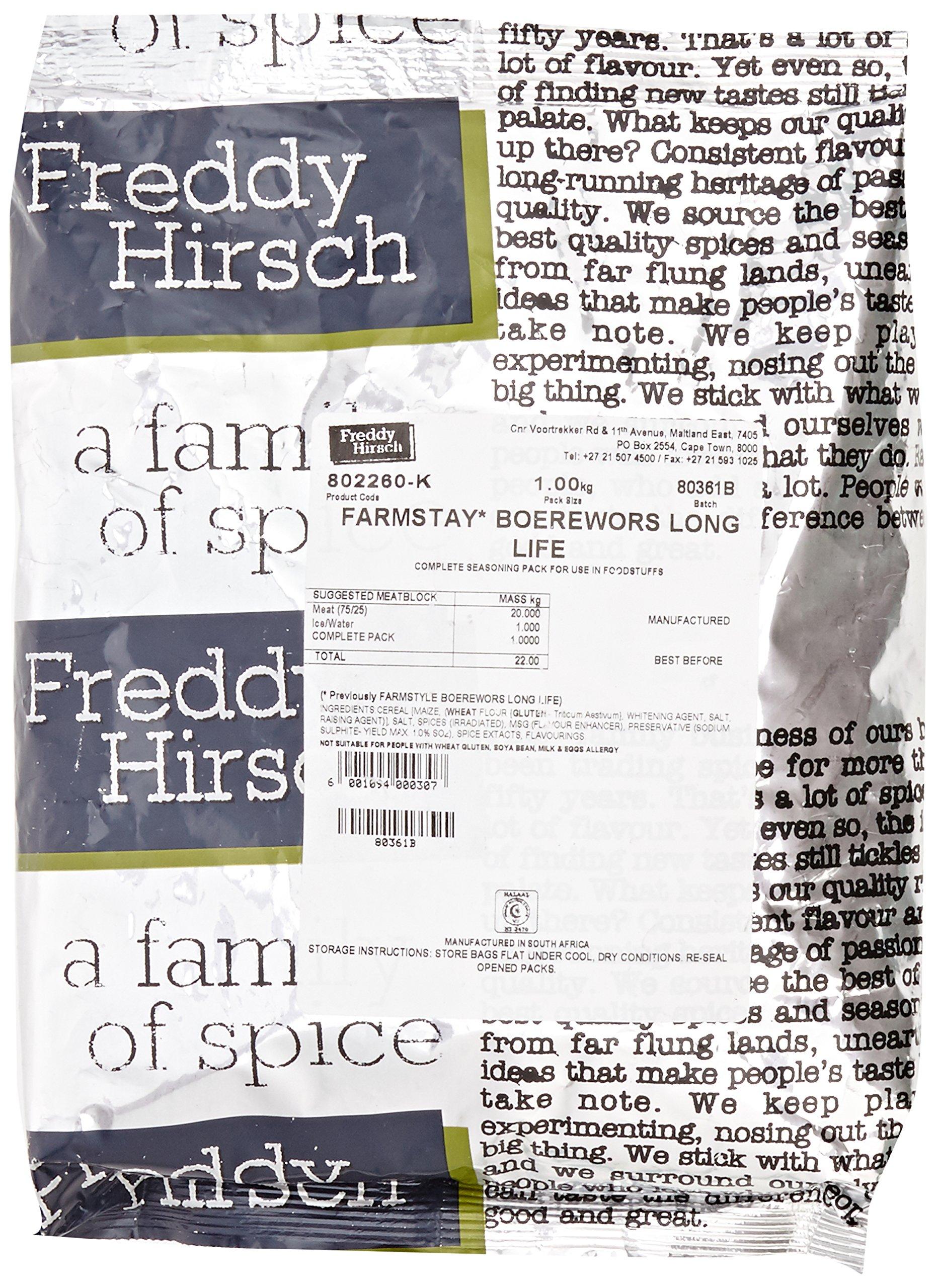 Freddy Hirsch Farmstay Boerewors Long Life Spice 1 kg