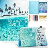 iPad mini 4 Case Cover, Dteck(TM) Ultra Slim PU Leather Stand Smart Cover with [Auto Sleep/Wake Feature] [Corner Protection] Protective Case for Apple iPad mini 4 (2015 Release), Charming Beach
