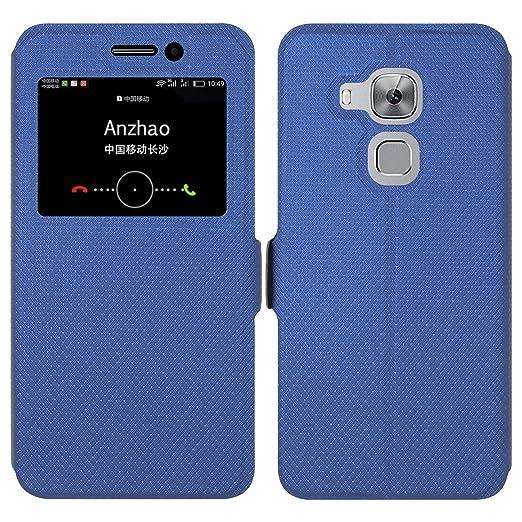4 opinioni per Huawei Nova Plus Custodia , Anzhao Flip Cover [Chiusura magnetica] Con Finestra