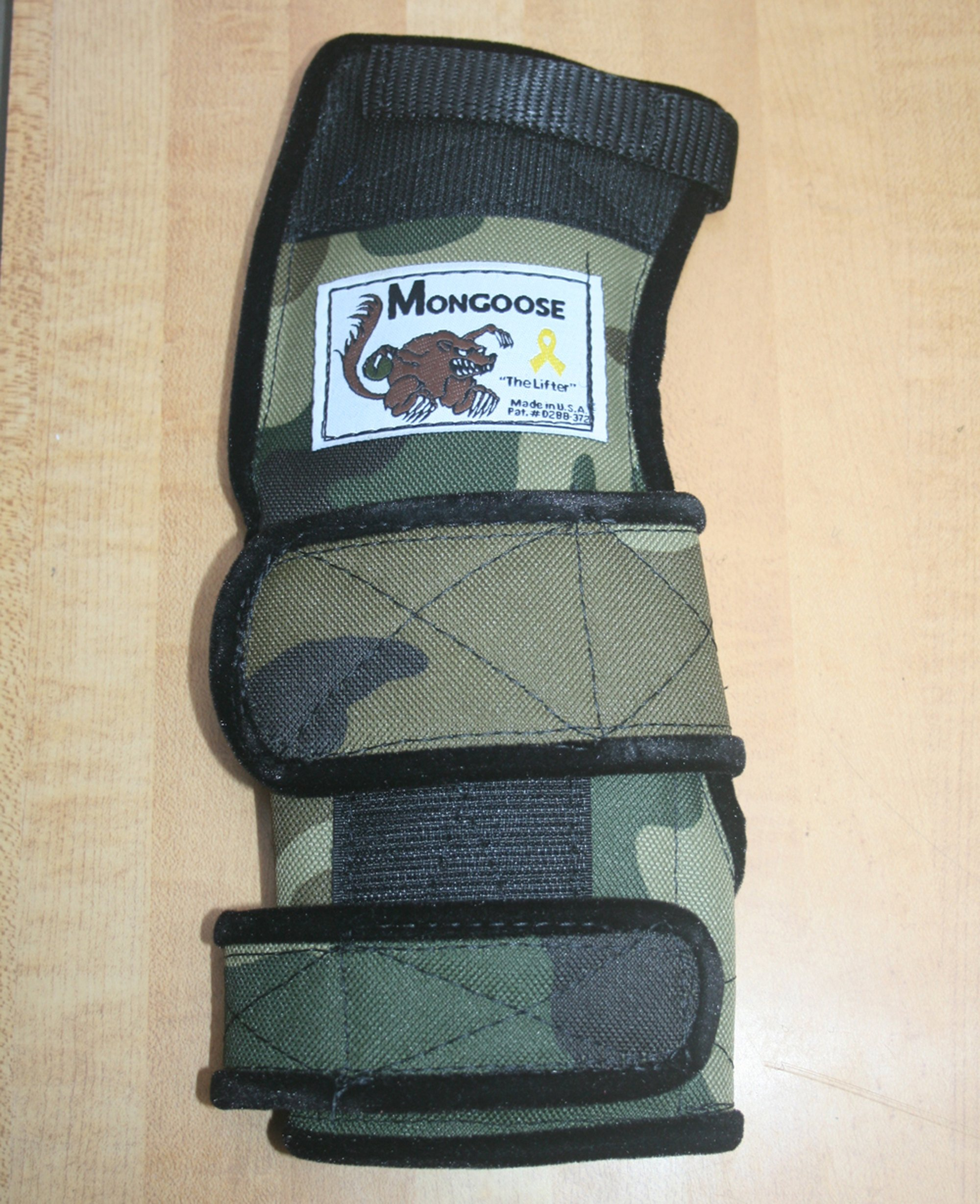 Mongoose ''Lifter Bowling Wrist Support left Hand, Large, Camo by Mongoose