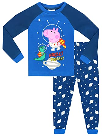 3b0d9a095 George Pig Boys George Pig Glow in The Dark Pyjamas - Snuggle Fit - Ages 18  Months to 8 Years: Amazon.co.uk: Clothing