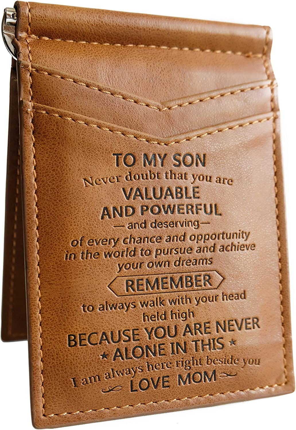 memory gift - Wallet For Son From Mom, Mother Son Gifts, Mother To Son, To My Son, Birthday gift, Son From Mom Card Holder, Father's day, Mother's Day, Christmas, Xmas