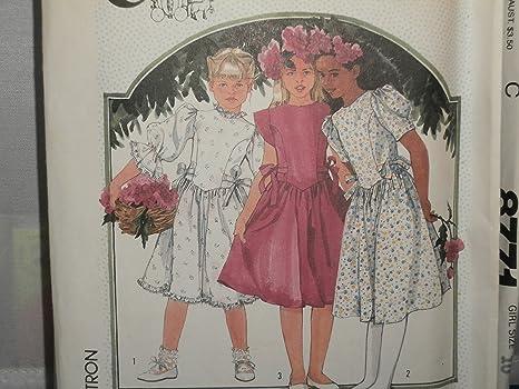 201058e69 Simplicity 7342 - Patrón de costura para vestido de niña (talla 10 ...