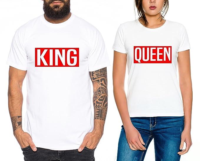 Levi Partnerlook Camiseta de los Pares Conjunto Rey Reina ...