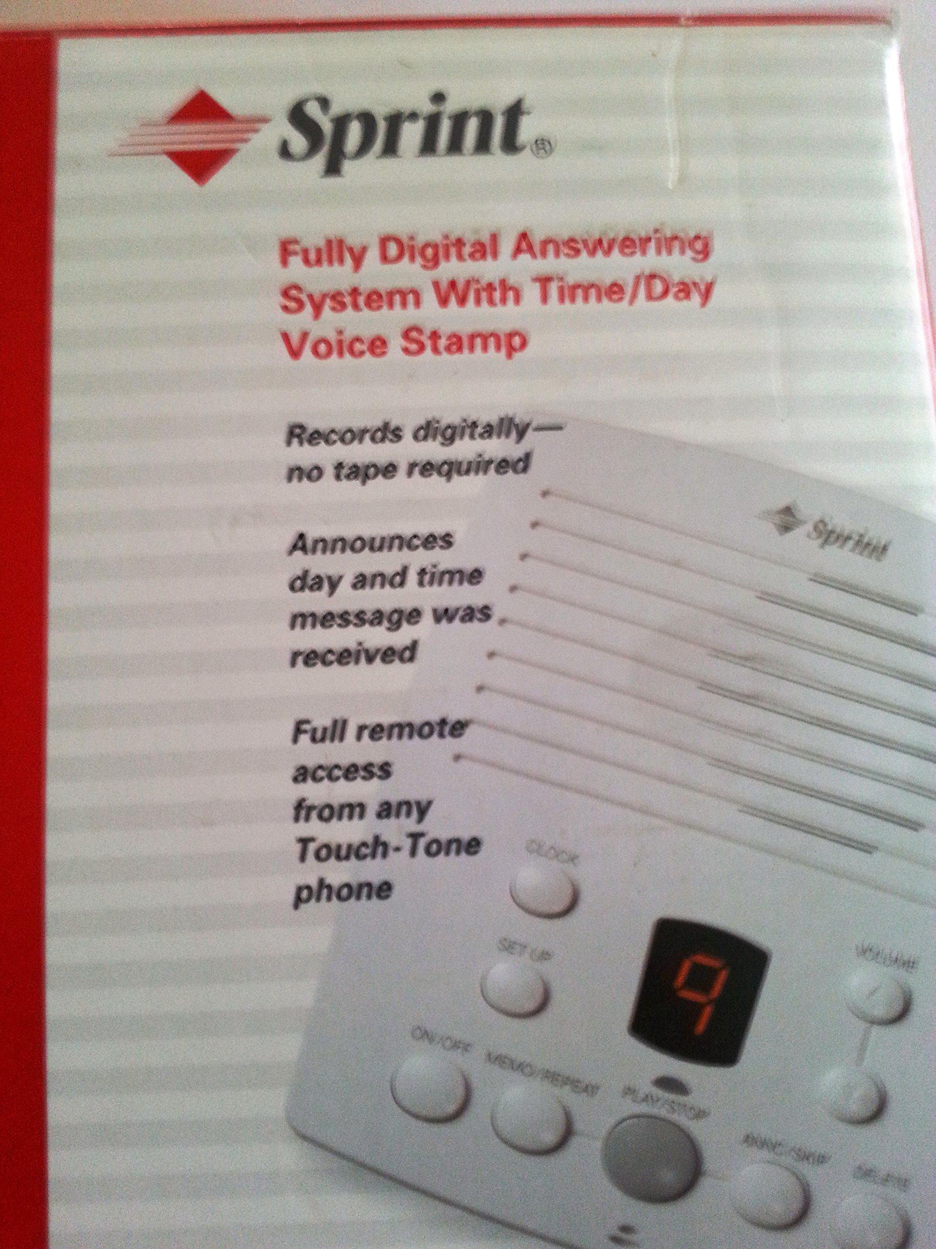Sprint Digital Answering Machine 43-5818