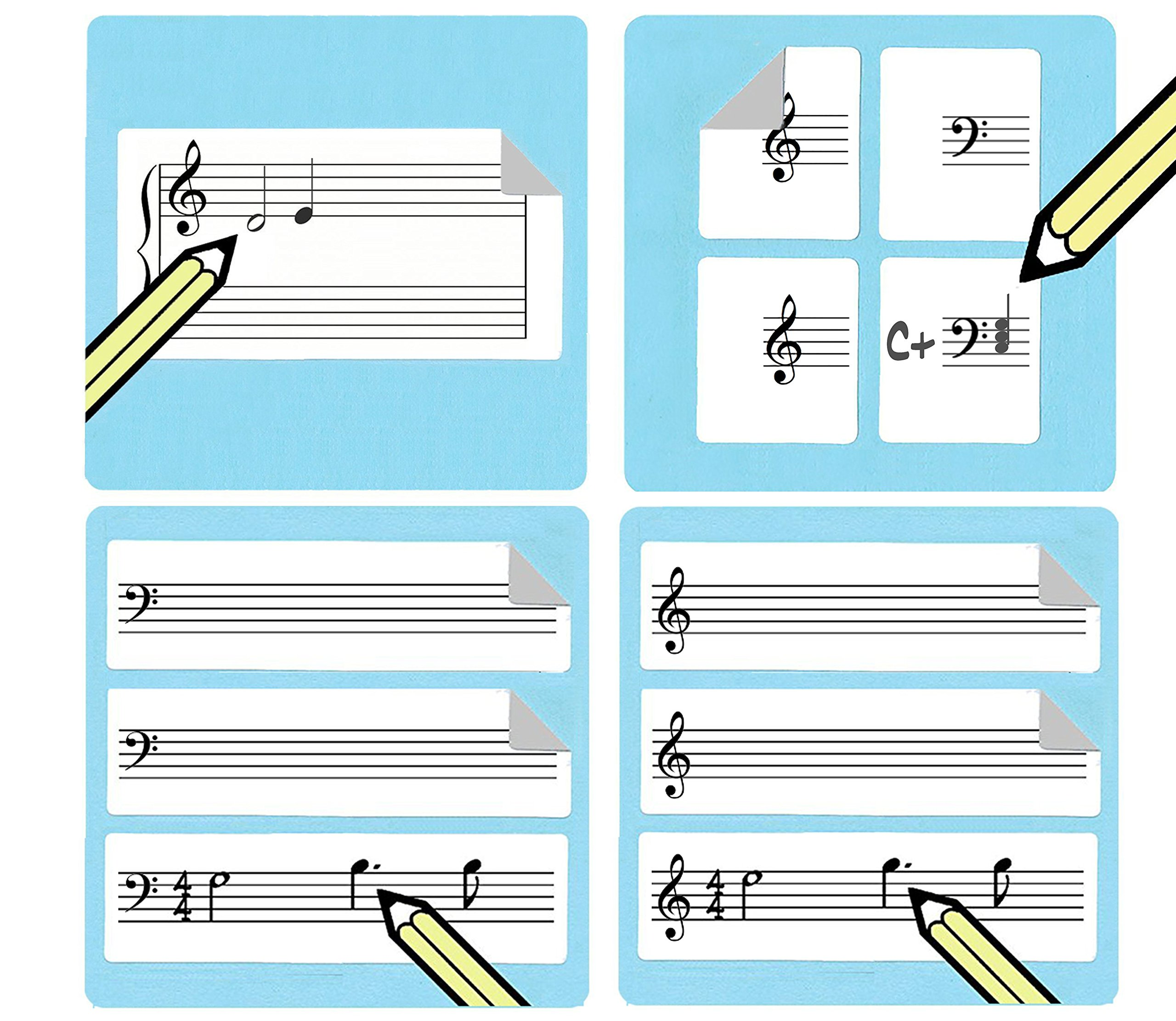 Music Staff Sticker Multipack (270 handy stickers for music teachers and students))