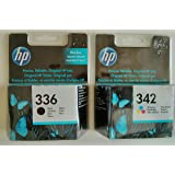 HP 336 / HP 342 Black / Colour Multipack - 2 Original Printer Ink Cartridges for HP Deskjet 5420 5420V 5432 5440 5440V 5440XI 5442 5443 D4100 D4145 D4155 D4160 D4163 Officejet 6300 6301 6304 6305 6307 6308 6310 6310V 6310XI 6313 6315 6318 Photosmart 7800 7838 7838V 7838XI 7850 7850V 7850XI C3100 C3110 C3125 C3135 C3140 C3150 C3170 C3173 C3175 C3180 C3183 C3185 C3188 C3190 C3193 C3194 PSC 1500 1503 1504 1507 1508