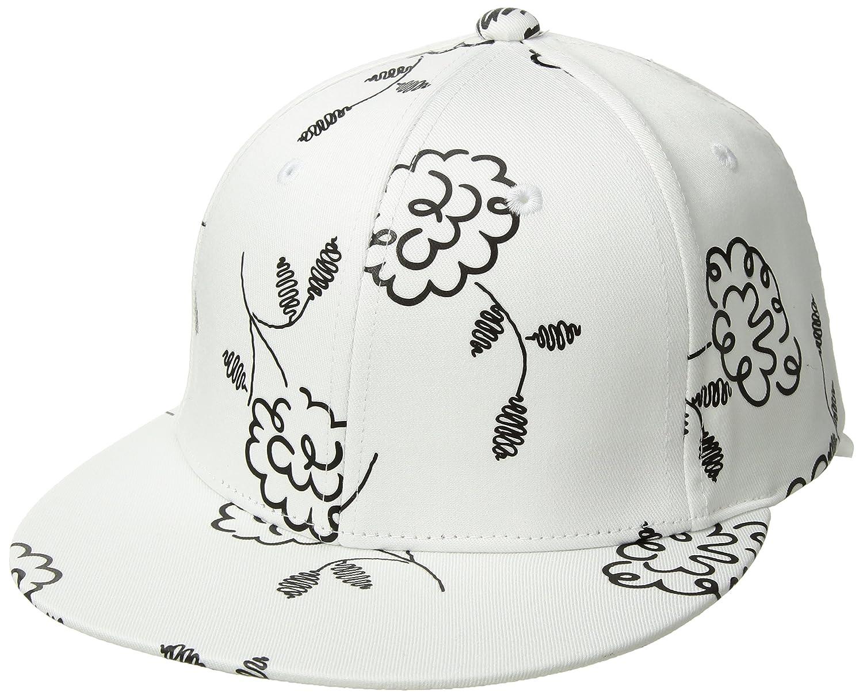 A|X Armani Exchange Women's Floral Doodle Cap Vintage Flower Black One Size 9440528P034