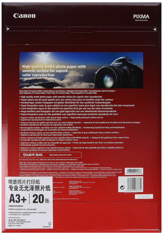 Canon consumible papel fotográfico PRO Premium mate PM-101 A3 20 hojas