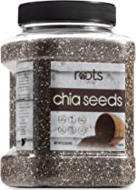 Roots Circle Non-GMO Bulk Chia Seeds | 2.2lb Raw Superfood, Vegan,