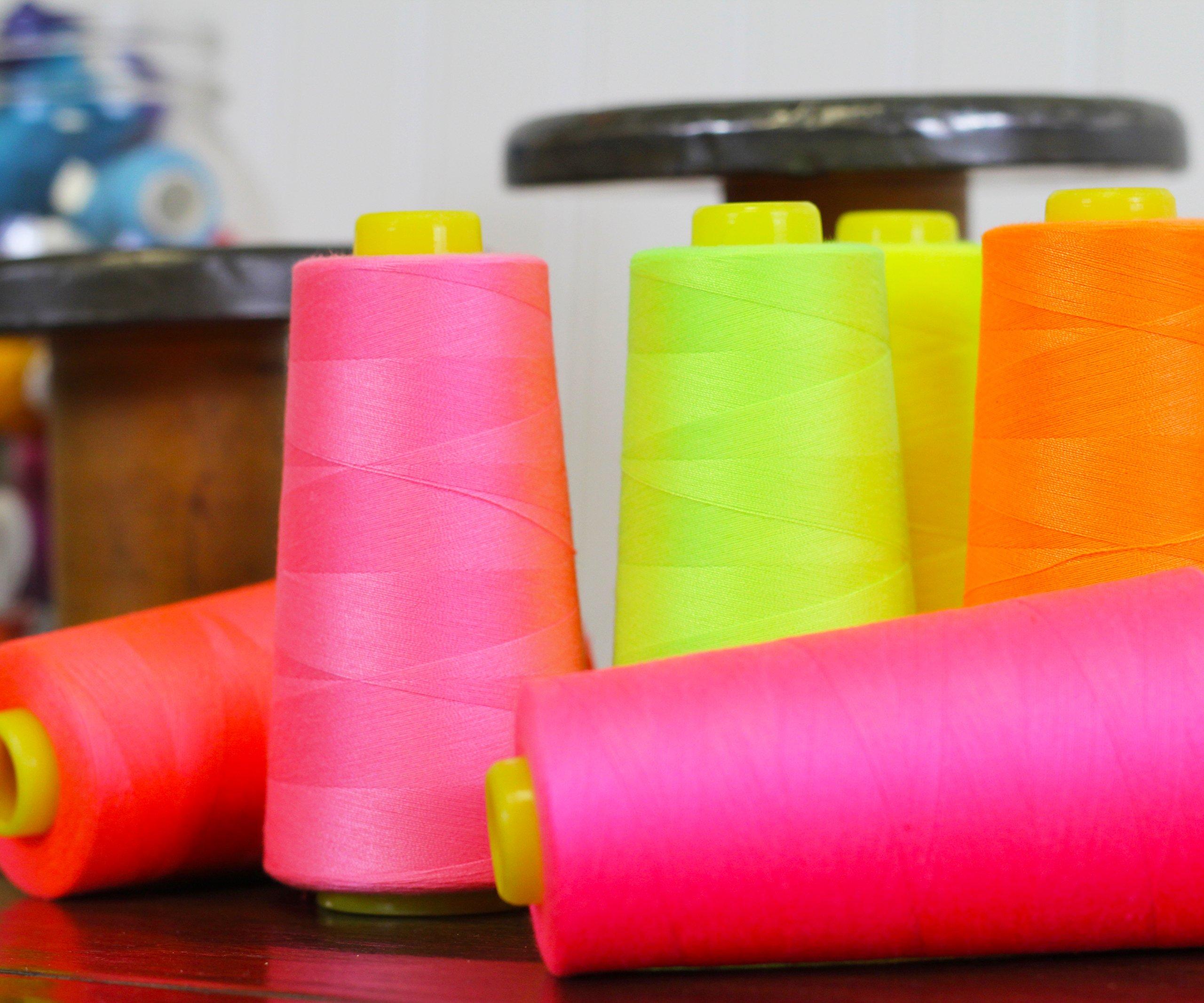 50 Colors of Serger Sewing Overlock Thread Set - Spun Polyester - 2750 Yards Per Cone - 40/2 - Threadart by Threadart