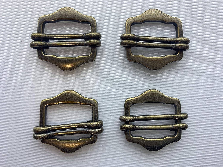 Wuuycoky Bronze 1 Inner Diameter Fillet D Ring Small Fisheye Buckle Lobster Clasps Swivel Snap Hooks Pack of 10