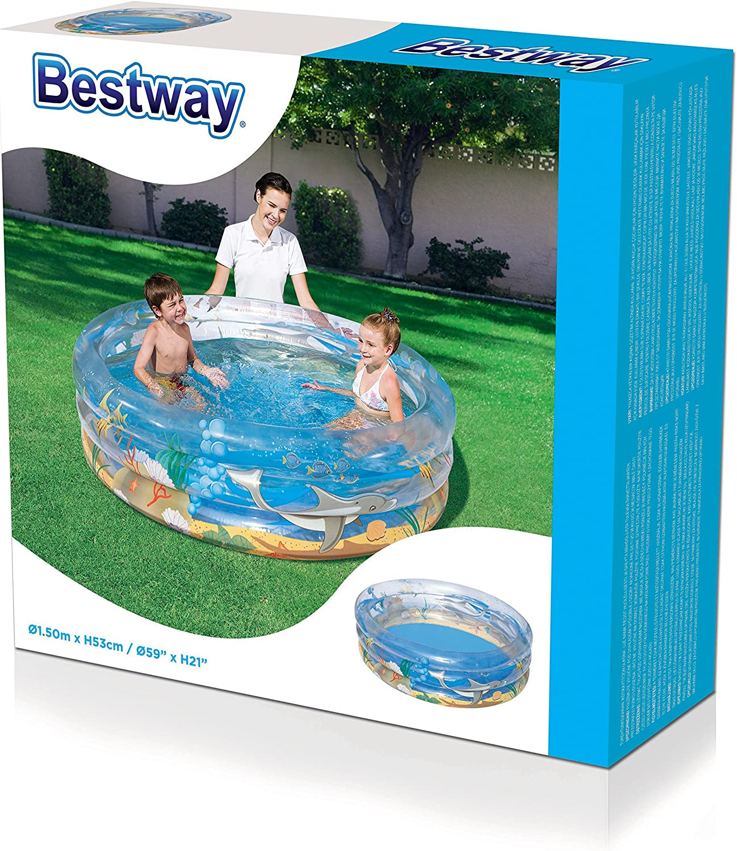Piscine gonflable enfant pataugeoire 3 boudins diam/ètre 150 cm hauteur 53 cm Bestway