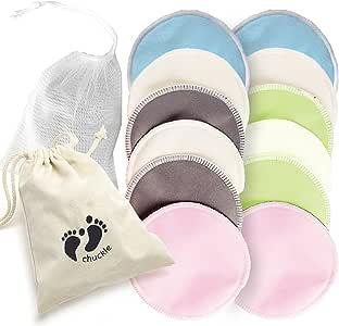 12 Premium Almohadillas de Lactancia de Bambú Orgánico - Discos ...