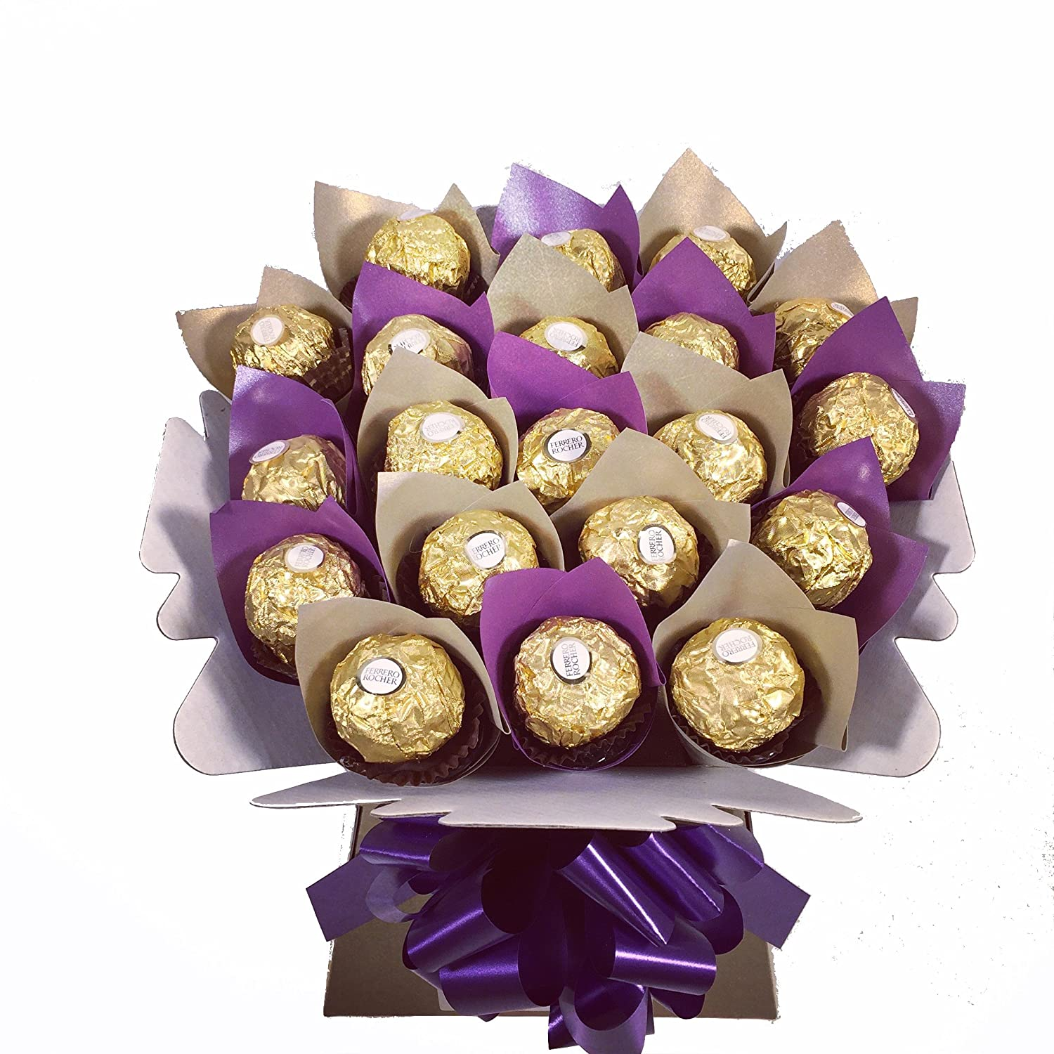 Amazon ferrero rocher 20 chocolate bouquet sweet hamper tree amazon ferrero rocher 20 chocolate bouquet sweet hamper tree explosion grocery gourmet food izmirmasajfo