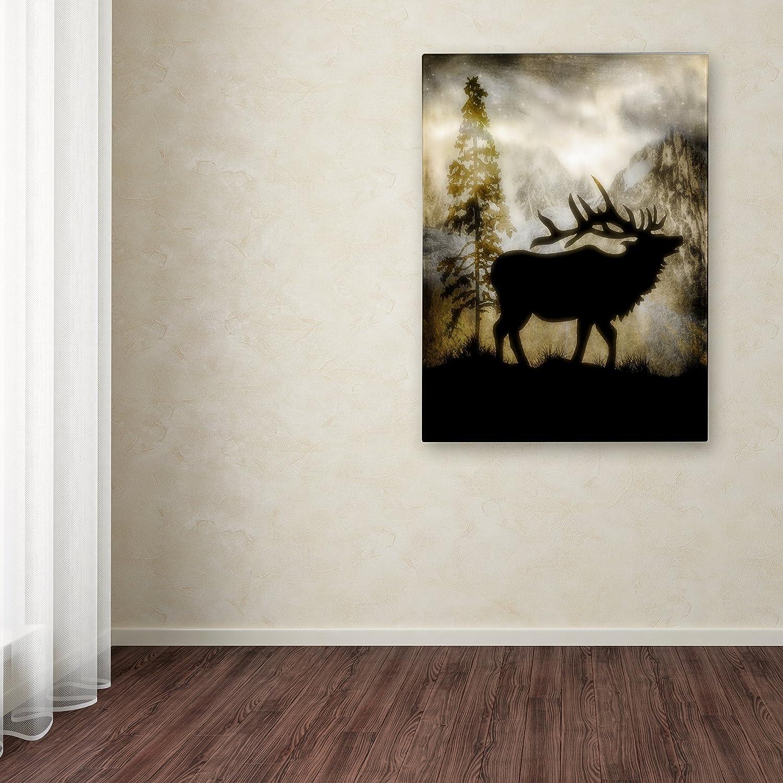 Mystic Elk by LightBoxJournal, 24×32-Inch Canvas Wall Art