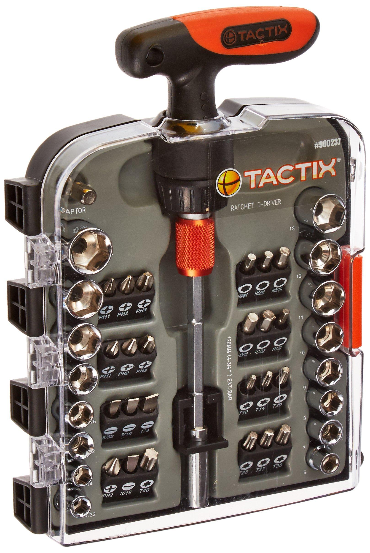 Tactix 900237 Screwdriver Handle Set, Black/Orange, 43-Piece