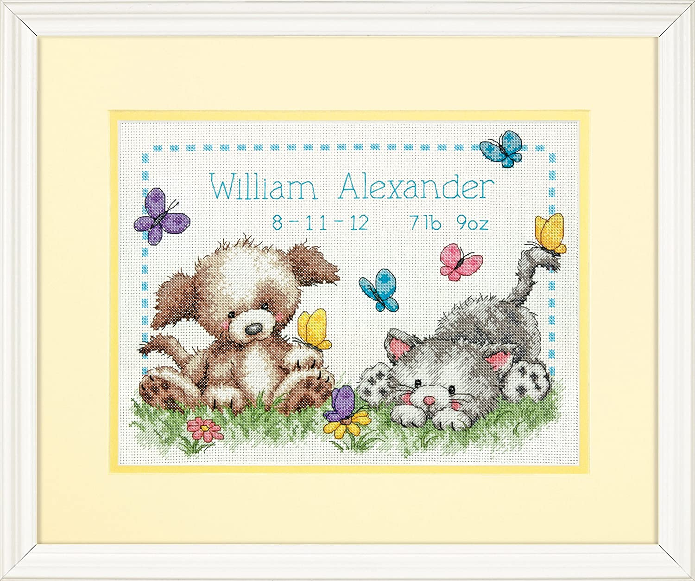 Dimensions 70-73883 Pet Friends Birth Record Counted Cross Stitch