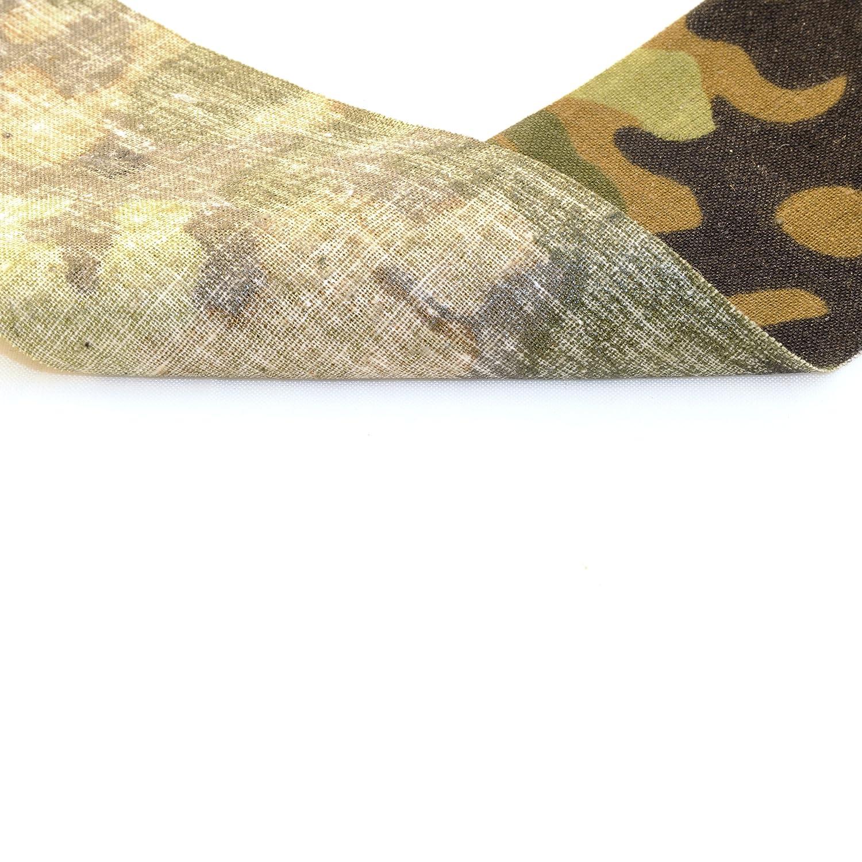longitud de 5 metros tela resistente a la intemperie Ganzoo Cinta adhesiva con estampado de camuflaje