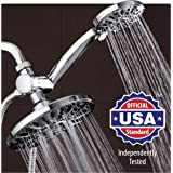 "AquaDance 7"" Premium High Pressure 3-way Rainfall Shower Combo Combines the Best of Both Worlds - Enjoy Luxurious Rain Showerhead and 6-setting Hand Held Shower Separately or Together!"