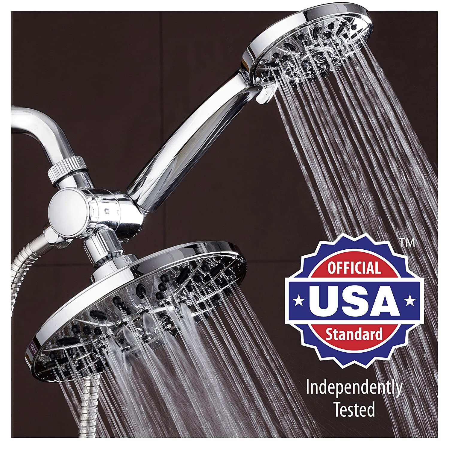 shower head and rain shower combo. AquaDance 7  Premium High Pressure 3 way Rainfall Shower Combo Combines the Best of Both Worlds Enjoy Luxurious 6 Setting Rain Showerhead and setting