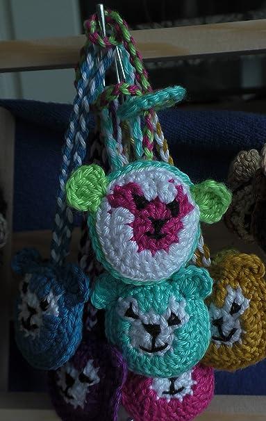 Oso baumler iPhone colgante bolsa colgante llavero Handmade nuevo verde animales ganchillo Flores ganchillo Manualidades Handmade - 100% algodón Niños Kids ...