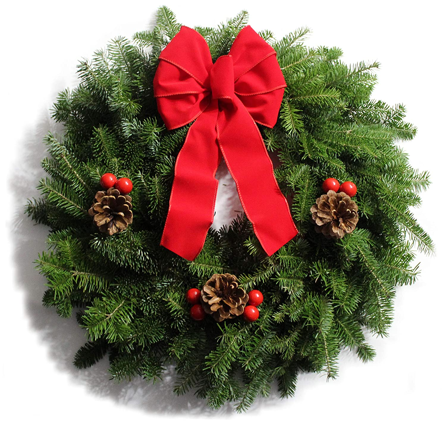Amazon Apple Creek Traditional Balsam Fir Christmas Wreath