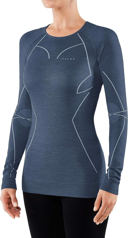 Langarmshirt Wool Tech FALKE Damen Long Sleeve Comfort Fit Merinowollmischung 1 er Pack
