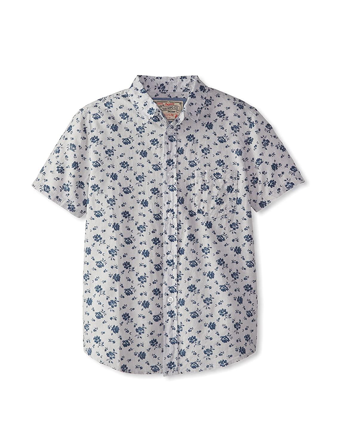 Jachs Big Boys Button Down Floral Grey size 4 Short Sleeve