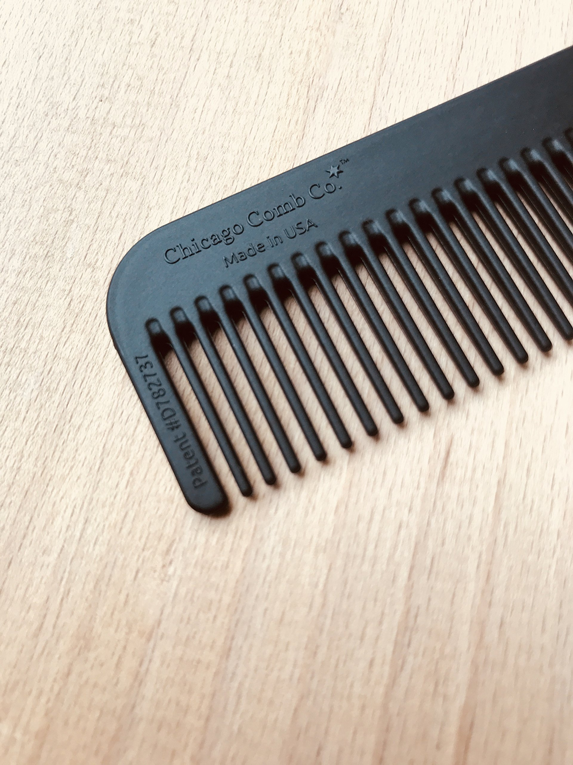 Chicago Comb Model 1 Carbon Fiber, Made in USA, ultra smooth, strong, and light, anti-static, heat-resistant, 5.5 inches (14 cm) long, ultimate daily use, pocket, and travel comb by Chicago Comb (Image #4)