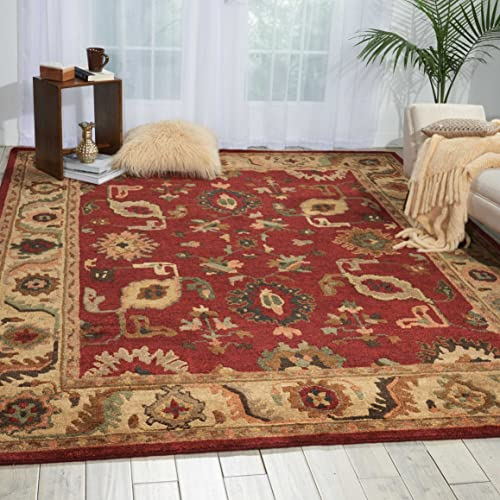 Nourison Tahoe TA08 Red Rectangle Area Rug, 9-Feet 9-Inches by 13-Feet 9-Inches 9 9 x 13 9