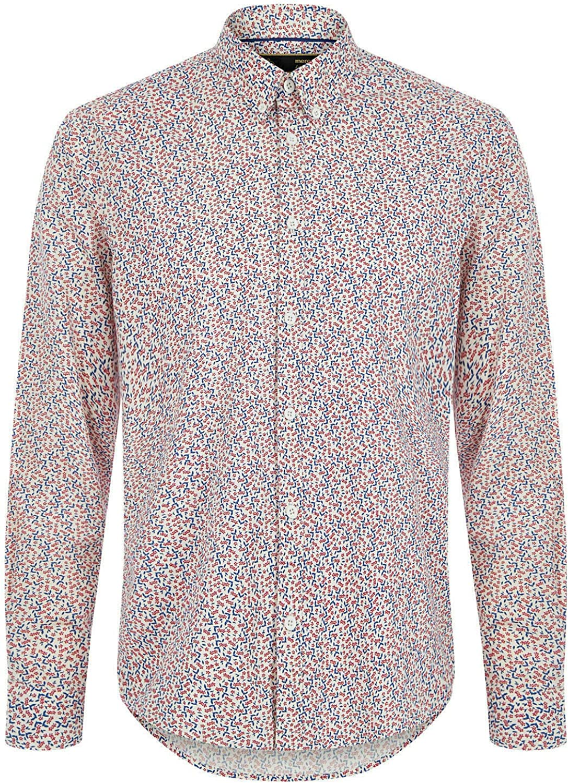 Merc of London Durham, L/s Floral Print Shirt Camisa, Blanco (Off White 103), 38 para Hombre: Amazon.es: Ropa y accesorios