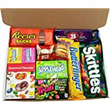 American Candy Hamper - Reeses, Skittles, Jelly Belly, Nerds - American Sweets Selection Taster Gift Box
