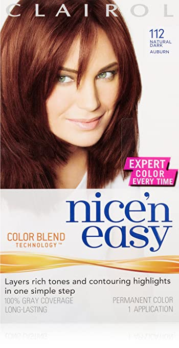 clairol nice n easy hair color 112 natural dark auburn 1 kit pack of - Clairol Nice And Easy Colors