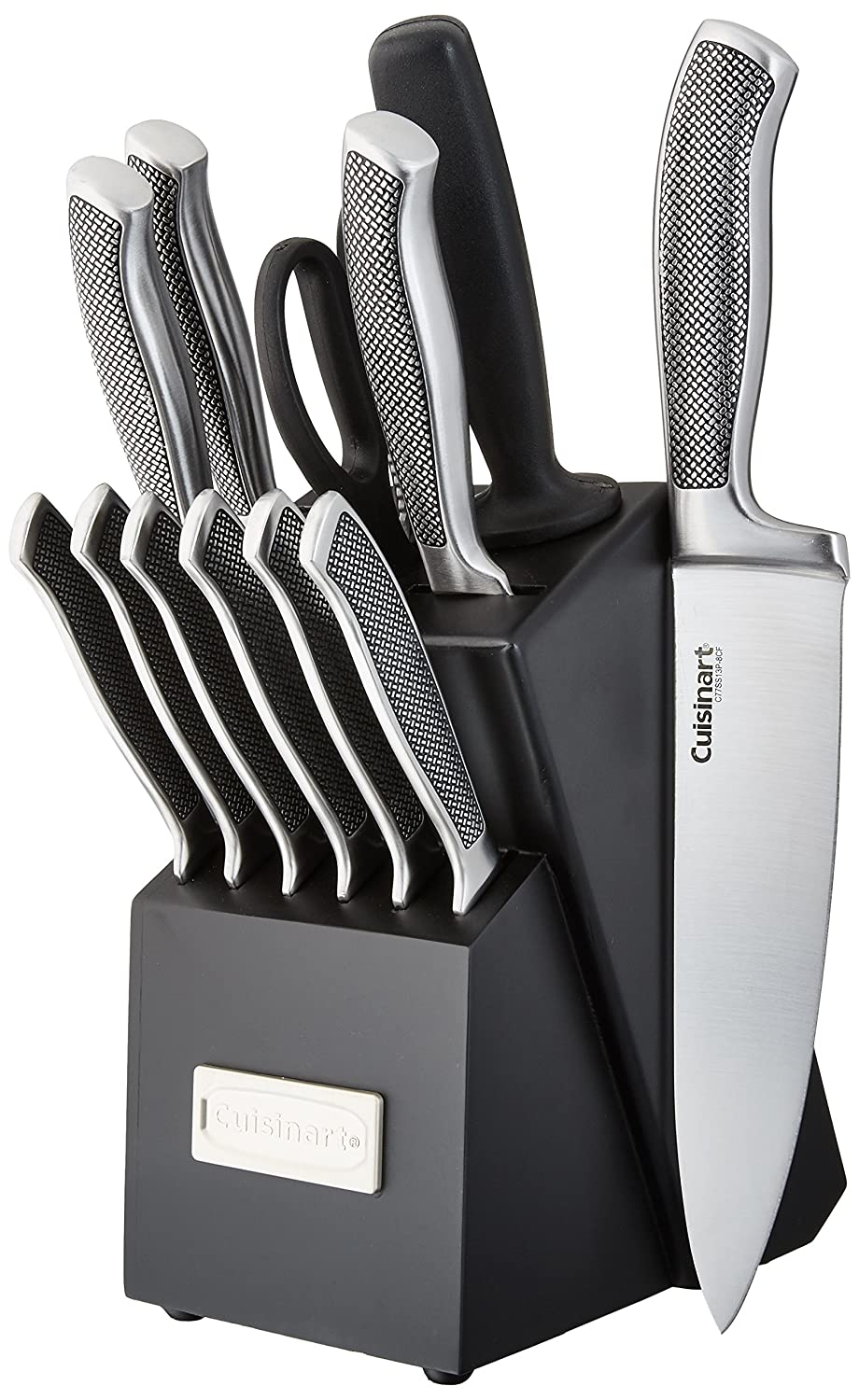 Cuisinart C77SS-15P Graphix Collection 15-Piece Cutlery Knife Block Set, Stainless Steel